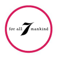 7 for all Mankind logo in red circle