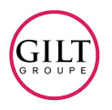 Gilt Groupe logo in red circle