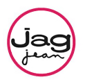 Jag Jeans logo in red circle