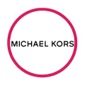 Michael Kors logo in red circle