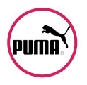 Puma logo in red circle
