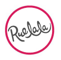 Ruelala logo in red circle