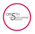 Off Sak's 5th Avenue Outlet logo in red circle